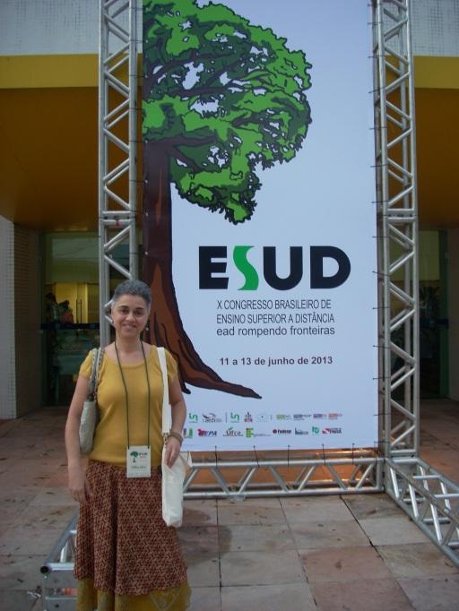 Profª Fátima Kzam no ESUD 2013 - Polo EAD de Nova Friburgo