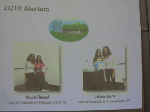 Vencedoras do concurso para escolha do logotipo do evento