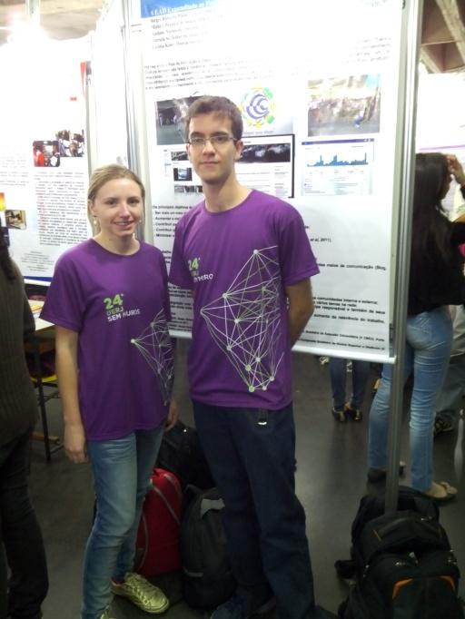 Os estudantes Michele Pereira e Sergio Pinho
