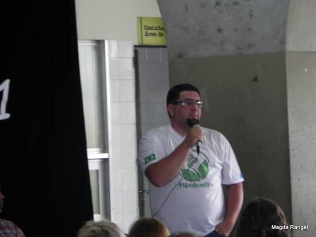 Zandonaid Bianquini, representante dos estudantes do Polo