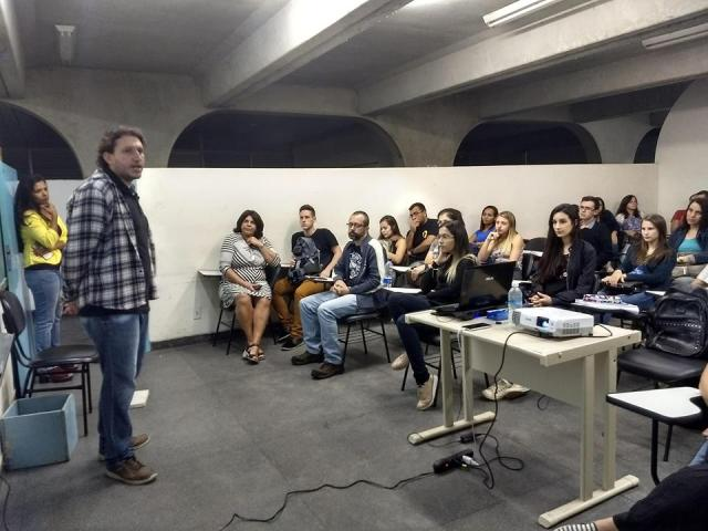 alunos palestra
