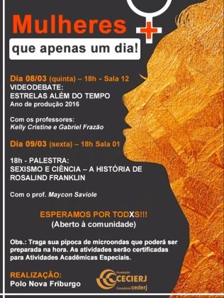 Cartaz Dia das Mulheres Polo NFR