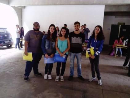 Figura 1: Alunos que participaram da feira de ciências. Créditos: Patrick Nunes Ferreira.