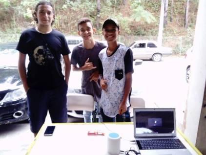 Figura 8: Alunos que participaram da feira de ciências. Créditos: Patrick Nunes Ferreira.