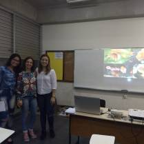 Foto 12: Palestrantes, Caroline Moraes, Patrícia Toledo e Tatiane Moraes. Créditos: Carolina Maciel Mattos.