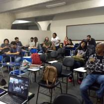 Foto 13: Alunos que participaram da palestra e exposição de FUNGOTECA. Créditos: Carolina Maciel Mattos.