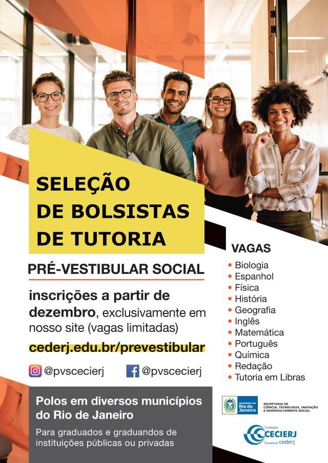 Cartaz bolsistas de tutoria PVS 2019