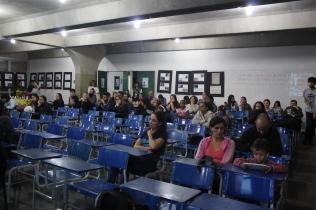 Foto 13: Alunos presentes na palestra. Créditos: Carolina Maciel Mattos.